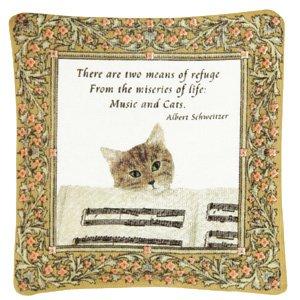 Alice's Cottage - Single Spiced Mug Mat - Music & Cats