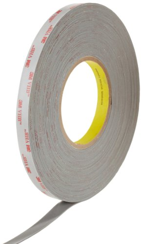 (3M RP45 VHB Tape Roll - 0.5 in. x 54 ft. Gray Double-Sided Tape with Acrylic Adhesive. Adhesives and Tapes)