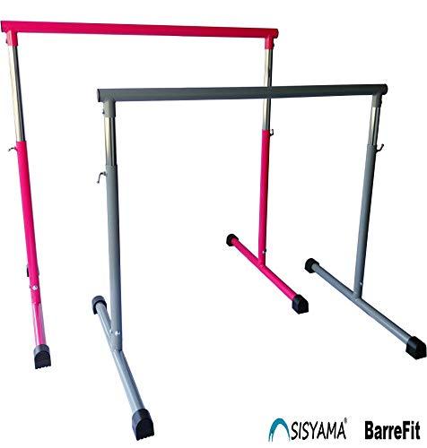 Booty Bar Portable Freestanding Adjustable Workout Fitness Stretch Dance Bar (Hot Pink) ()