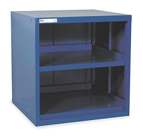 Vidmar - RP1182DB - Overhead Cabinet, Open Face Cabinet Doors, 30W x 27-3/4D x 31H, 2 Shelves, Dark Blue