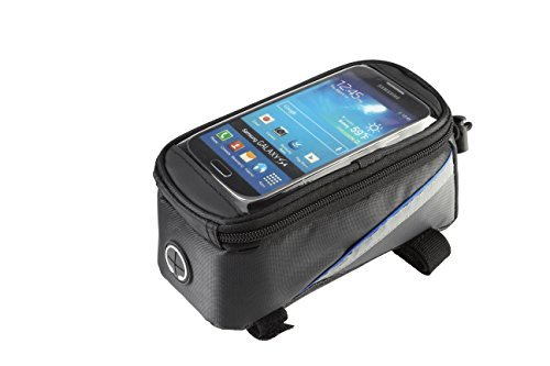 AGPtek® Large Size Roswheel Waterproof Bicycle Cycling Frame Pannier Front Tube Bag (Including Clear PVC Window Pouch for 4.8 inch Cell Phone, Reflective Strips for Safe Night Riding)