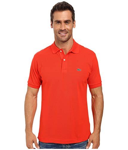 Lacoste Men's Classic Short Sleeve L.12.12 Pique Polo Shirt,Redcurrant Bush,Large ()