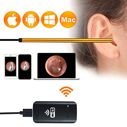 IF.HLMF Ear Wax Suction Remover Visual Ear Spoon 30W Ear Artifact Digging Ears HD Android Apple ENT Throat Endoscope