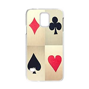 Poker Personalized Custom Phone Case For Samsung Galaxy S5 (Laser Technology) Plastic Hard Case Cover Skin