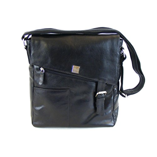 Leather Smooth Crossed Women Pavini For Mittel Black Bag Black qnRFIt