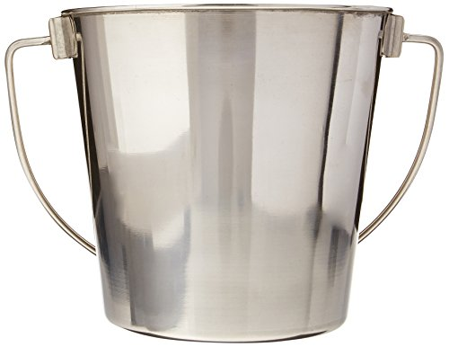 Advance Pet Products Heavy Stainless Steel Round Bucket, 2-Quart (Water Pail)