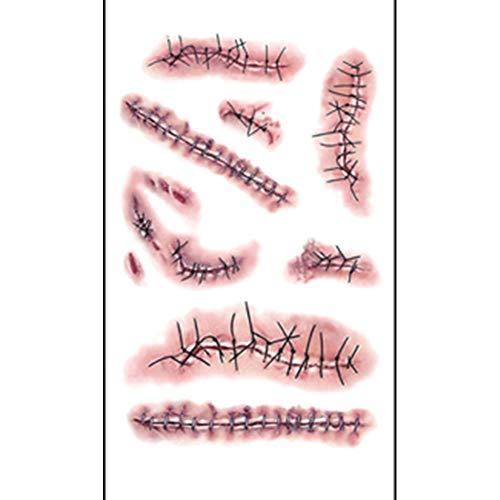 Halloween Tattoo Stickers, Anboo Halloween Weird Scars Scars