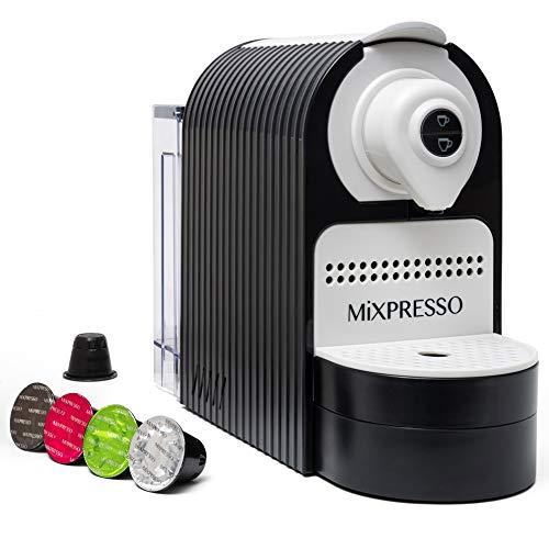 Mixpresso Espresso Machine for Nespresso Compatible Capsule, Programmable Buttons for Espresso and Lungo, Premium Italian 19 Bar High Pressure Pump 27oz 1400W (Black)