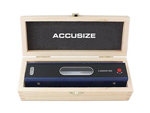 Accusize Industrial Tools 8'' Master Precision Level in Fitted Box, Accuracy: 0.0002''/10'', ()