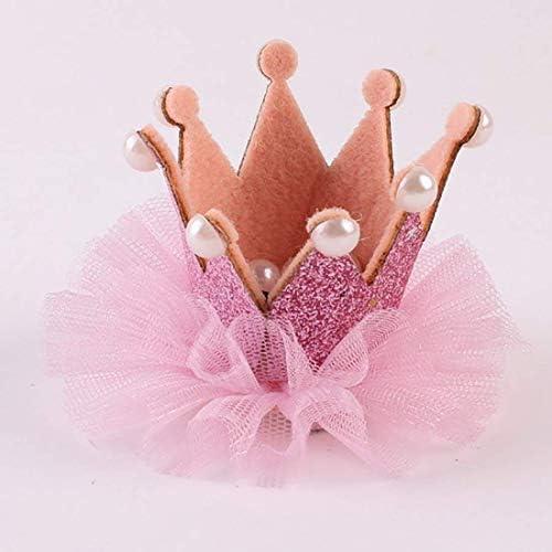 誕生日 女の子 アクセサリー ミニ 王冠 クリップ happy birthday お祝い 記念日 髪飾り ベビーピンク