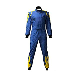 jxhracing rb cr027 one piece auto go karts racing suit blue medium automotive. Black Bedroom Furniture Sets. Home Design Ideas