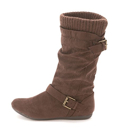 Boot Shaft Platform - Report EVERTON Women US 5 Brown Mid Calf Boot