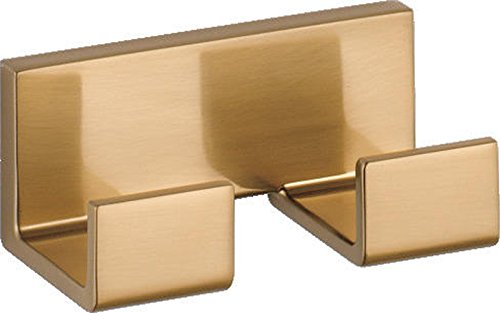 Delta Faucet Bathroom Accessories 77736-CZ Vero Double Towel Hook, Champagne Bronze