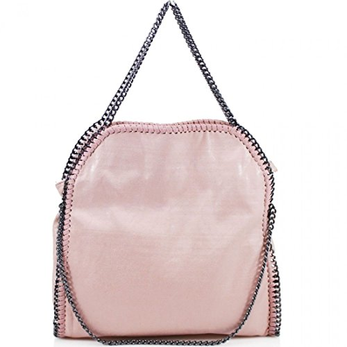 Baby MINI Hobo Designer Messenger Large Women's Shoulder CHAIN EDGE LARGE Handbag Bag Pink WHvWOw4qa