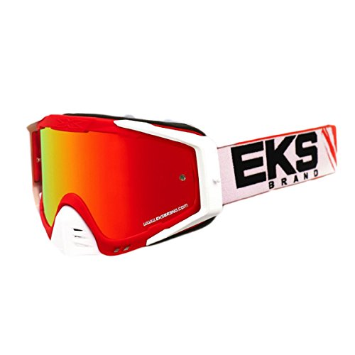 (EKS Brand EKS-S Outrigger Adult Dirt Bike Motorcycle Goggles Eyewear - Red/White/Black One Size Fits All )