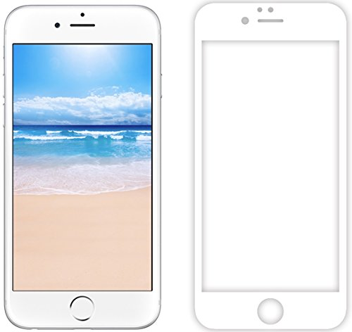 【3D Touch Compatible】 GPCT 3D Curved Tempered Glass Full Cover Screen Protector For Apple iPhone 6. [Edge To Edge Protection] Shock Absorbent [Scratch Proof] Perfect Fit [Bubble free] - - Perfect Fit Glasses