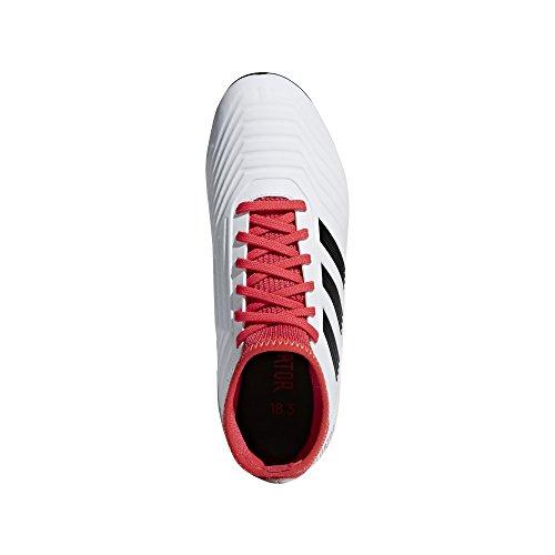 adidas Predator 18.3 AG J, Botas de Fútbol Unisex Niños Blanco (Ftwbla / Negbas / Correa 000)