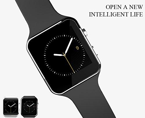FLOVEME [ Smartwatches 1,54 Pulgadas Bluetooth Móviles Reloj Soporte de Tarjeta SIM Tarjeta TF Extensión Smartwatches con Cámara Twitter Facebook Sync ...