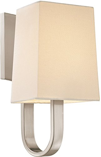 - Sonneman 1821.13, Cappio Wall Sconce Lighting, 1 Light, 20 Total Watts, Satin Nickel