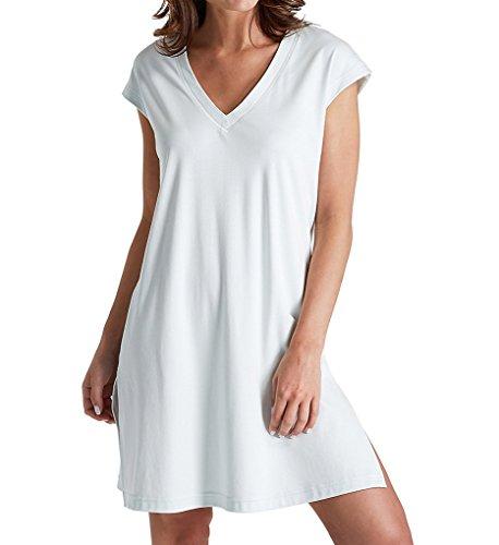 P-Jamas Butterknits V-Neck Cap Sleeve Nightgown (327660) M/Blue