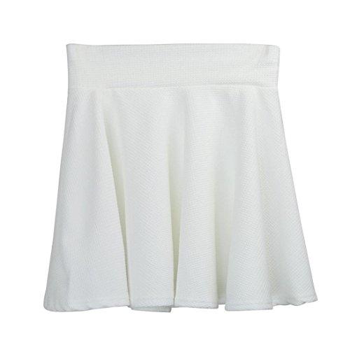 Mini Pattinatore Shorts Pianura Gonna Alta Bianca Vita A gonna Gonne Pieghe Flared nbsp;corto Donne Sammoson Signora PqBwC0f