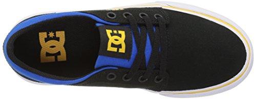 DC - Zapatillas para niño negro, azul y gris