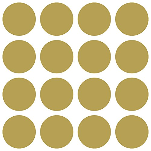 Gold Die Cut Wings (Polka Dots Decoration / Color Code / Vinyl Decal Sticker (1.25