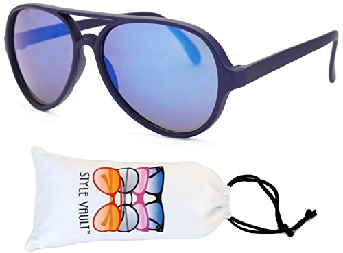 Kd37-vp (2~8yr Old)kids Turbo Aviator Sunglasses (U2694S Mt.navy blue-blue mirror, - Old Kids Navy Sunglasses