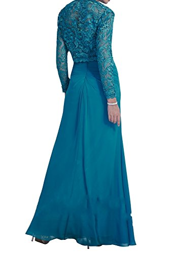Brautmutterkleider Dunkel Kleider Promkleider La Brau Bolero Royal Blau Festlichkleider Abendkleider mia Jugendweihe Ballkleider Chiffon mit wz1U7