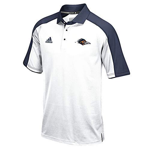 White Sideline Performance Polo - adidas UTSA Roadrunners NCAA Men's Sideline Climalite Performance Football Coaches White Polo Shirt (M)