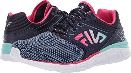 Fila Women's Memory Multiswift 2 Running Fila Navy/Aruba Blue 7.5 B US