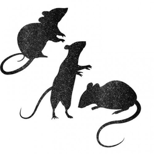 Halloween Blood Manor Glitter Paper Mice Silhouette Cut Out Decorations x 9 for $<!--$5.08-->