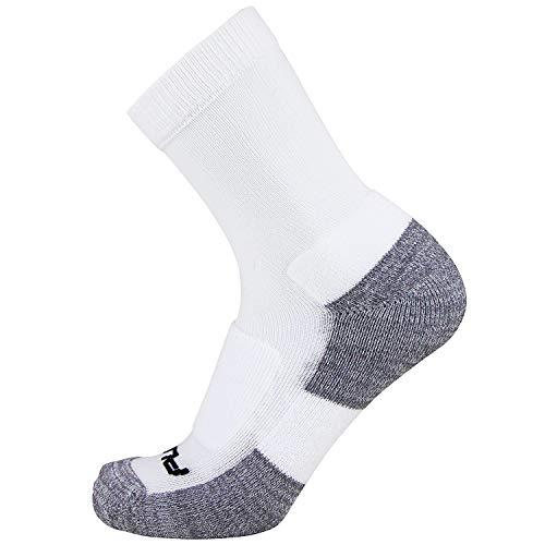 Pure Athlete Crew Comfort Padded Walking Socks - Everyday Ultra-Comfortable Anti-Blister Walker Socks