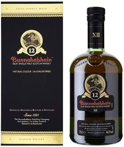 Bunnahabhain 12 Year Old Single Malt Scotch Whisky 70cl Bottle