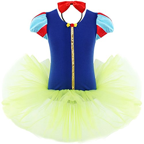 YiZYiF Girls Kids Ballet Christmas Birthday Dance Tutu Dress Up Headband 5-6 ()