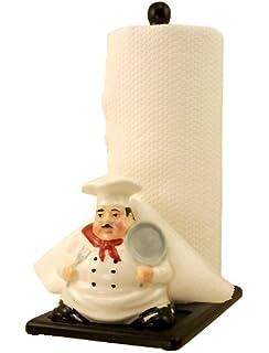 Chef Paper Towel And Napkin Holder Ceramic