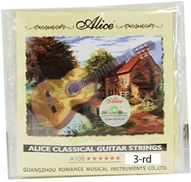 PACK 10 CUERDAS GUITARRA CLASICA Nº3 A106H - 3 Grosor 1,04mm.: Amazon.es: Instrumentos musicales