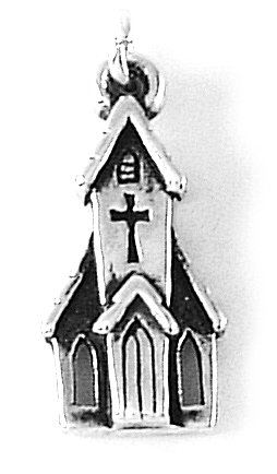Bob Siemon Sterling Silver Church Charm