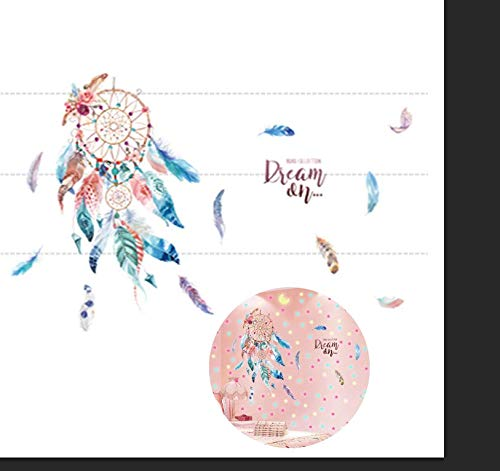 Qingsm Dream Catcher Stickers Wall Decor Glow in Dark Star&Moon Wall Sticker Girls Room Home Decoration