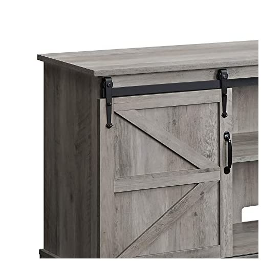 Farmhouse Living Room Furniture BELLEZE Modern Farmhouse TV Stand & Media Entertainment Center Console Table for TVs up to 65 Inch with Sliding Barn… farmhouse tv stands