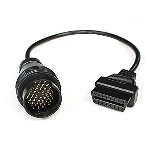 Peepheaven Câble de connecteur de Diagnostic de Voiture 38Pin pour Benz 38 Broches mâle à 16 Broches Femelle OBD2 OBDII connecteur Adaptateur de Diagnostic Outil