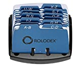 Rolodex ROL67060 Petite Open Tray Card File Holds 125 Cards of 2.25 x 4 Inches, Black (67060)