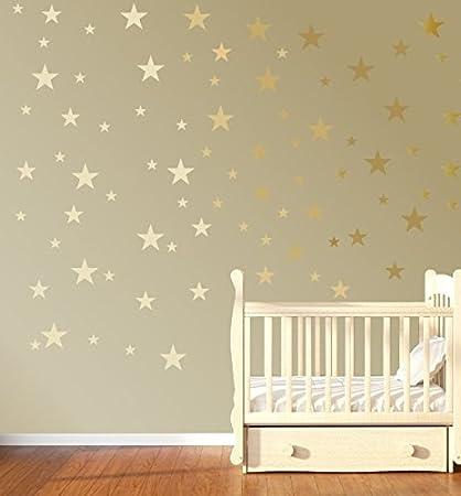 Quotemywall 55 Mixtes Etoiles Stickers Muraux Chambre D Enfant Decor Stickers Muraux Decoration Pour Enfants Accueil De Papier Peint Art Dore