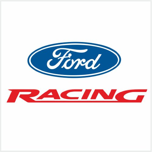 4pcs Set Ford Racing Logo Decals Stickers 10