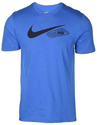 Max Graphic - NIKE Men's Air Max 90 Swoosh Graphic T-Shirt-Game Royal-Small
