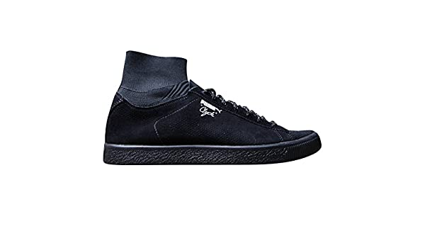 e9c21b42f03 Puma Men's Clyde X Black Rainbow Ankle-High Fashion Sneaker: Puma ...