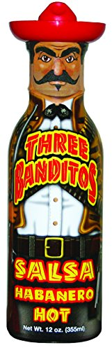 Three Banditos Salsa Habanero - Draw your guns hombre 'cause our Salsa Habanero is one bad bandito! He's been known to shoot first and ask questions later. His temper is HOT and so is his flavor. the habanero pepper makes sure of that!