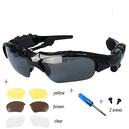 BeiLan Wireless Bluetooth Headset Headphone Sunglasses with Stereo Handsfree for iPhone and All Smart Phones PC Tablets for Runing Outdoors - ?????????? ?? Sunglasses Bluetooth ???????