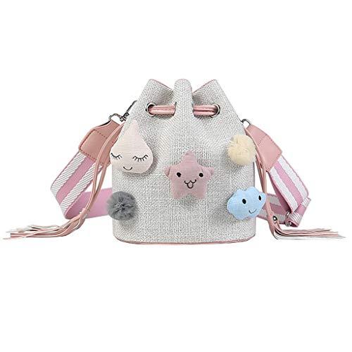 Dream Roland Borsa a secchiello borsa a tracolla diagonale borsa studente borsa donna S codice borsa tela modello 209 bianco