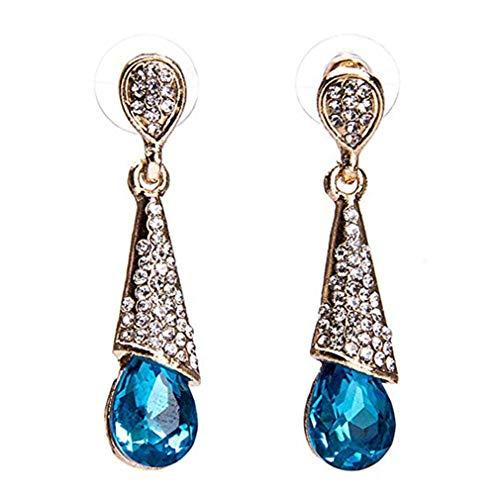Windoson Swarovski Pierced Earrings Crystal Rhinestone Earrings for Women Girls Jewellery Gift (Blue)